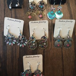 7 pair earring bundle